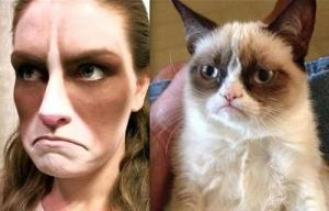 Grumpy Cat: How to 1: Serious face painting skills