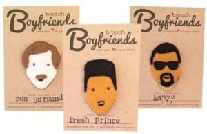 boyfriend brooches